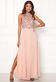 AngelEye High Neck Sequin Dress Pink Bubbleroom.eu