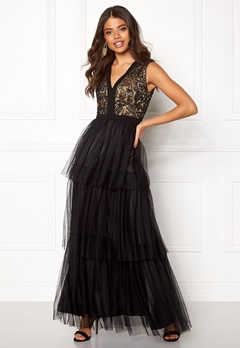 AngelEye Lace Bodice Maxi Dress Black Bubbleroom.eu
