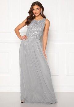 AngelEye Sequin Bodice Maxi Dress Grey Bubbleroom.eu