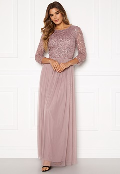 AngelEye Sequin Bodice Maxi Dress Lavender Bubbleroom.eu