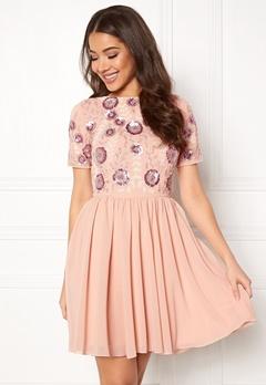 AngelEye Short Sleeve Sequin Dress Pink Bubbleroom.eu