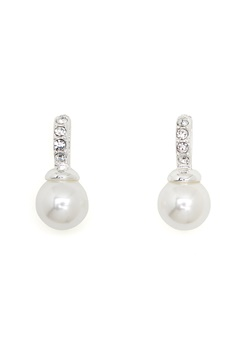 SNÖ of Sweden Astrid Earrings White Bubbleroom.eu