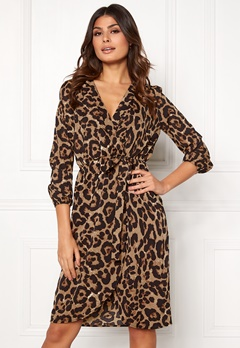 AX Paris Animal Print Wrap Dress Multi Bubbleroom.eu