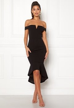 AX Paris Bardot Fishtail Dress Black Bubbleroom.eu