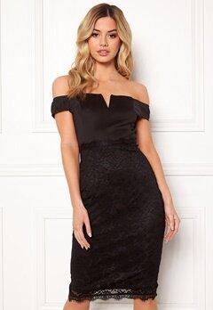 AX Paris Bardot Lace Midi Dress Black Bubbleroom.eu