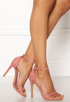 AX Paris Barely There Sandals Blush Suede Bubbleroom.eu
