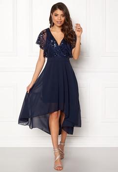 AX Paris Batwing Sequin Top Dress Navy Bubbleroom.eu