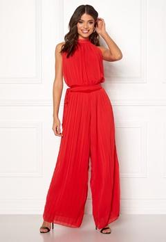AX Paris Blouson Pleated Jumpsuit Red Bubbleroom.eu