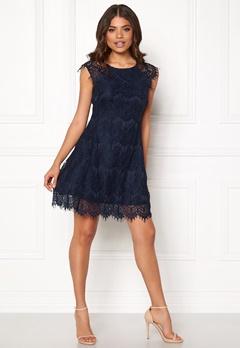 AX Paris Cap Crochet Lace Dress Navy Bubbleroom.eu