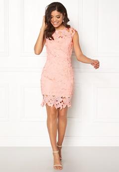 AX Paris Cap Sleeve Crochet Dress Pink Bubbleroom.eu