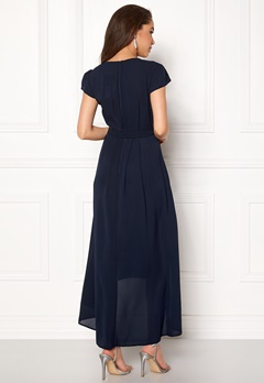 AX Paris Cap Waterfall Dress Navy Bubbleroom.eu
