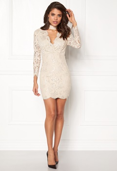 AX Paris Lace Choker Bodycon Dress Nude Bubbleroom.eu
