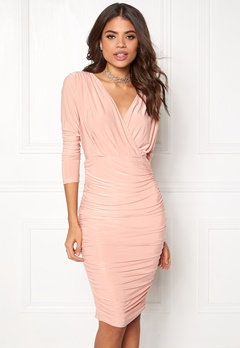 AX Paris V Front Slinky Midi Dress Champagne Bubbleroom.eu