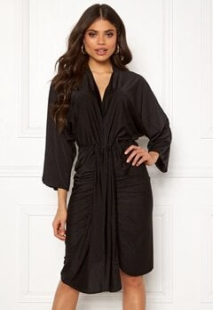 AX Paris Deep V Drape Midi Dress Black Bubbleroom.eu
