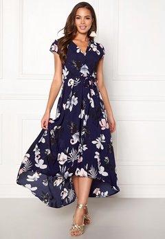 AX Paris Floral Cap Sleeve Dress Navy Bubbleroom.eu