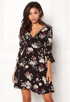 AX Paris Floral Print Dress Black Bubbleroom.eu
