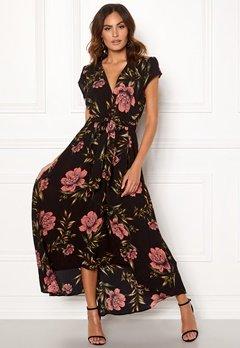 AX Paris Floral Waterfall Dress Black Bubbleroom.eu