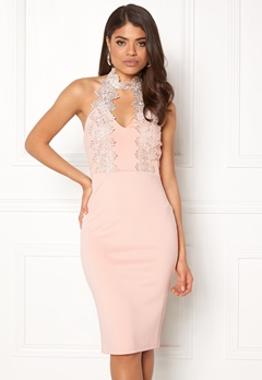 AX Paris Halterneck Choker Dress Pink Bubbleroom.eu