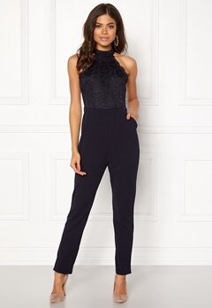 AX Paris High Neck Bodice Jumpsuit Navy Bubbleroom.eu