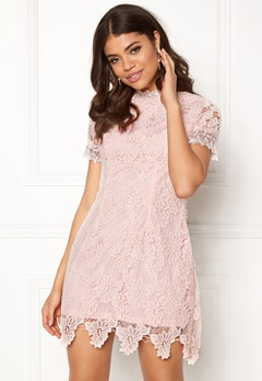AX Paris High Neck Lace Dress Blush Bubbleroom.eu