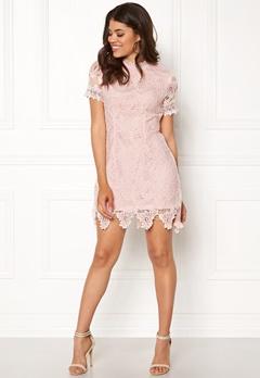 AX Paris High Neck Lace Dress Blush Bubbleroom.eu