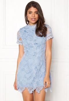 AX Paris High Neck Lace Dress Light Blue Bubbleroom.eu