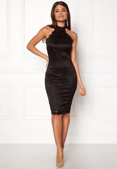 AX Paris High Neck Lace Midi Dress Black Bubbleroom.eu
