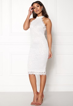 AX Paris High Neck Lace Midi Dress White Bubbleroom.eu