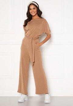 AX Paris Knitted Jumpsuit Camel Bubbleroom.eu