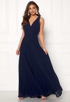 AX Paris Lace Pleated Maxi Dress Navy Bubbleroom.eu