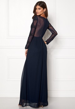 AX Paris Long Sleeve Lace Maxi Navy Bubbleroom.eu