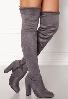 AX Paris Overknee Boots Grey Bubbleroom.eu