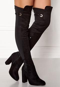 AX Paris Overknee Zip Boots Black Bubbleroom.eu