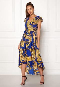 AX Paris Printed Cap Maxi Dress Royal Blue Bubbleroom.eu