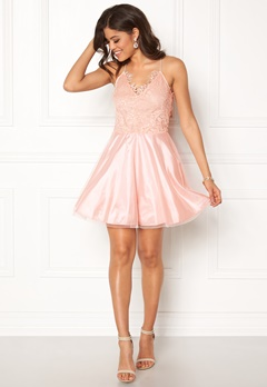 AX Paris Prom Lace Detail Dress Pink Bubbleroom.eu
