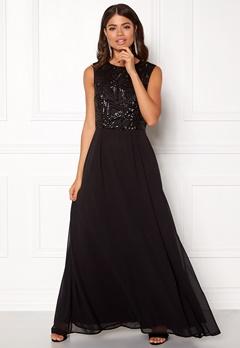 AX Paris Sequin Chiffon Maxi Dress Black Bubbleroom.eu