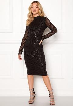 AX Paris Sleeve Sequin Midi Dress Black Bubbleroom.eu