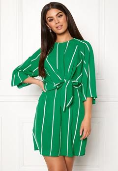 AX Paris Stripe Tie Sleeve Dress Green Bubbleroom.eu