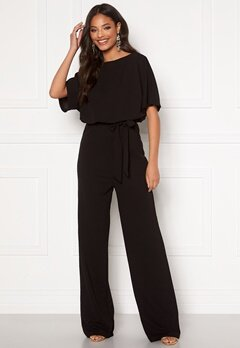 AX Paris Tie Waist Jumpsuit Black Bubbleroom.eu