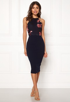 AX Paris High Neck Floral Dress Navy Bubbleroom.eu