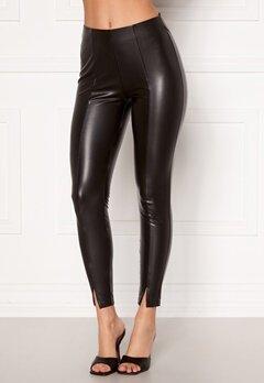 VILA Barb Coated 7/8 Pants Black Bubbleroom.eu