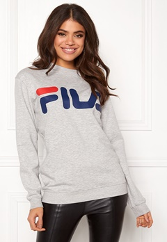 FILA Basic Classic Logo Sweat Light Grey Bubbleroom.eu