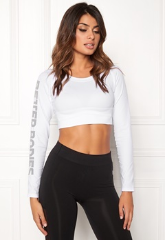Better Bodies Bowery Cropped Long Sleeve White Bubbleroom.eu