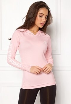 Better Bodies Performance LS Hood Pink Print Bubbleroom.eu