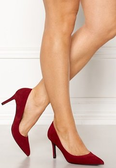 Bianco Cait Basic Suede Pumps Wine Bubbleroom.eu