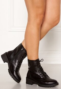 Bianco Claire Laced-Up Boots Black Bubbleroom.eu