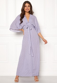 Blue Vanilla Kimono Sleeve Maxi Dress Lilac Bubbleroom.eu