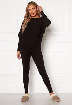 Blue Vanilla Knitted Slim Fit Trouser Jumper Set Black Bubbleroom.eu