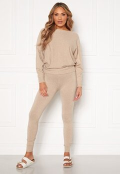 Blue Vanilla Knitted Slim Fit Trouser Jumper Set Stone Bubbleroom.eu
