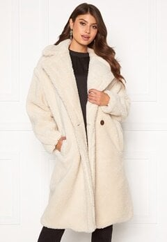 Blue Vanilla Oversized Teddy Coat Cream Bubbleroom.eu